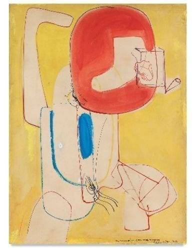Hans Hofmann, The Virgin, 1946. Oil on board, 104.8 x 77.5 cm. Courtesy Bastian. With permission of the Renate, Hans & Maria Hofmann Trust / Artists Rights Society (ARS), New York.