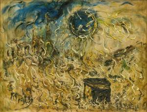 Affandi (Indonesian, 1907-1990) Ka'abah (link) 1983, oil on canvas 100 x 125 cm Estimate: HK$ 800,000 - 1,200,000