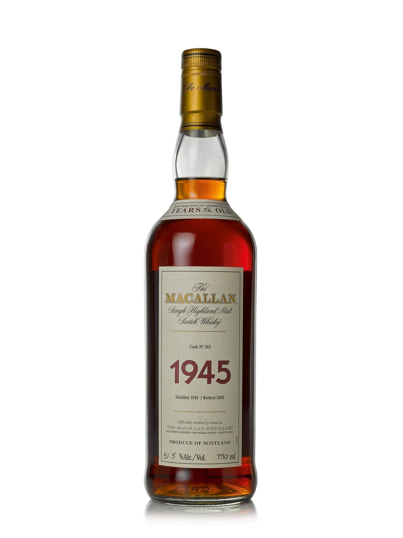 The Macallan Fine and Rare 56 Year Old 1945 Estimate $38/50,000
