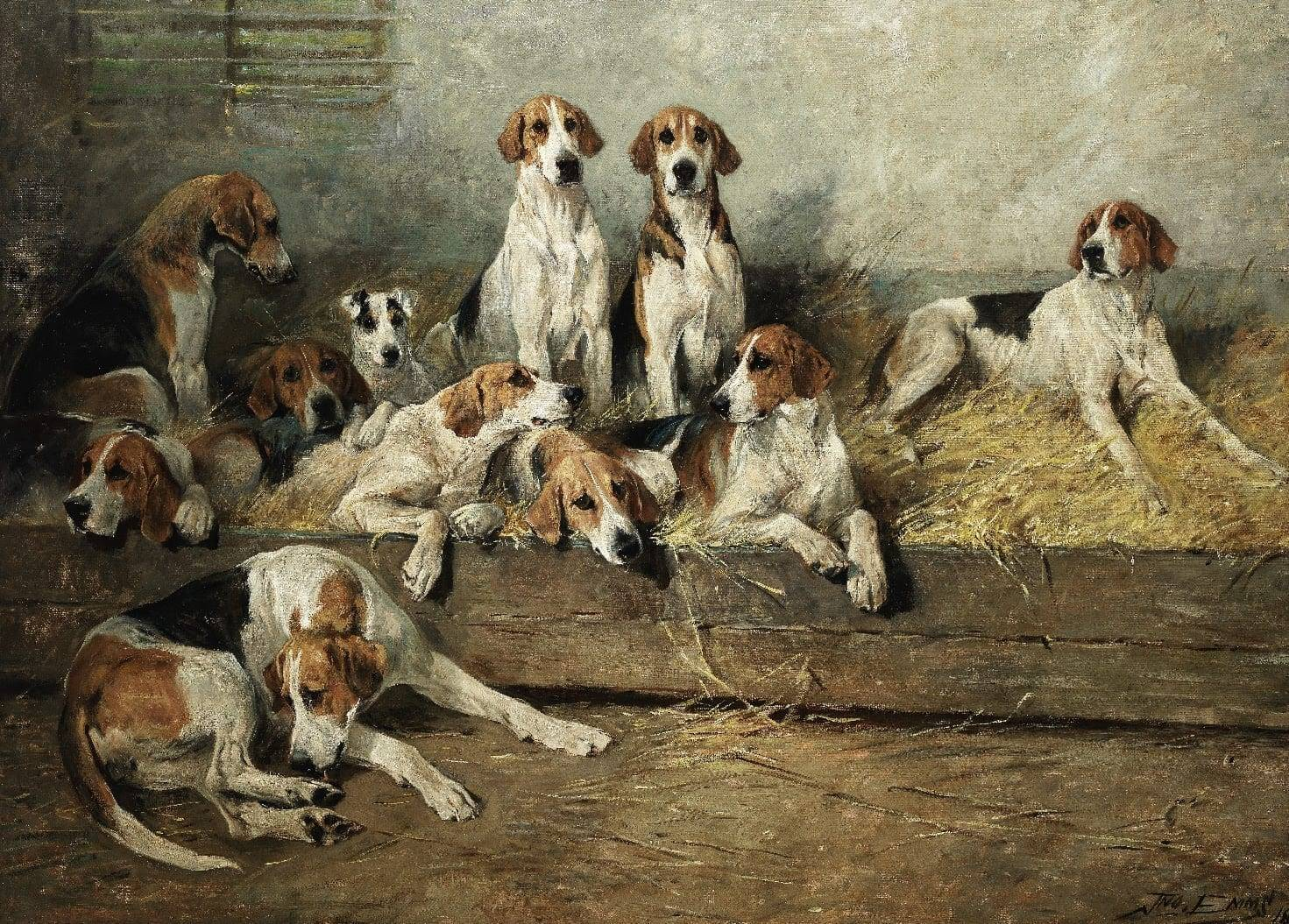 The Bitch Pack of the Meath Foxhounds by John Emms. Estimate: £180,000-250,000