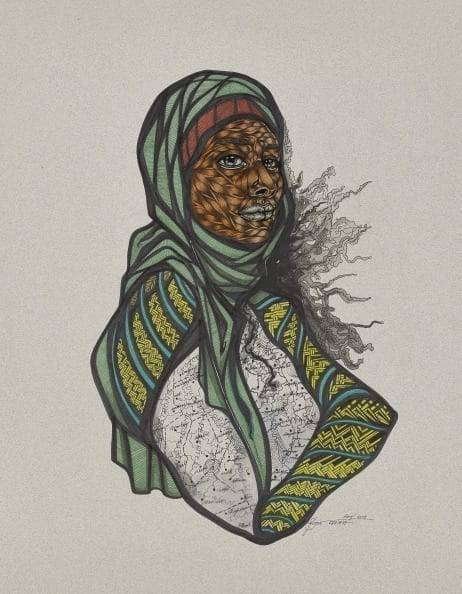 Toyin Ojih Odutola (Nigerian, born 1985), The Original (Binary State), Estimate: $20,000 - 30,000