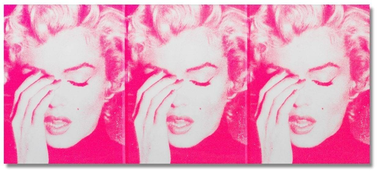 Russell Young (British, born 1959), Marilyn Crying (Triptych), 2011. Estimate: £50,000 - 70,000