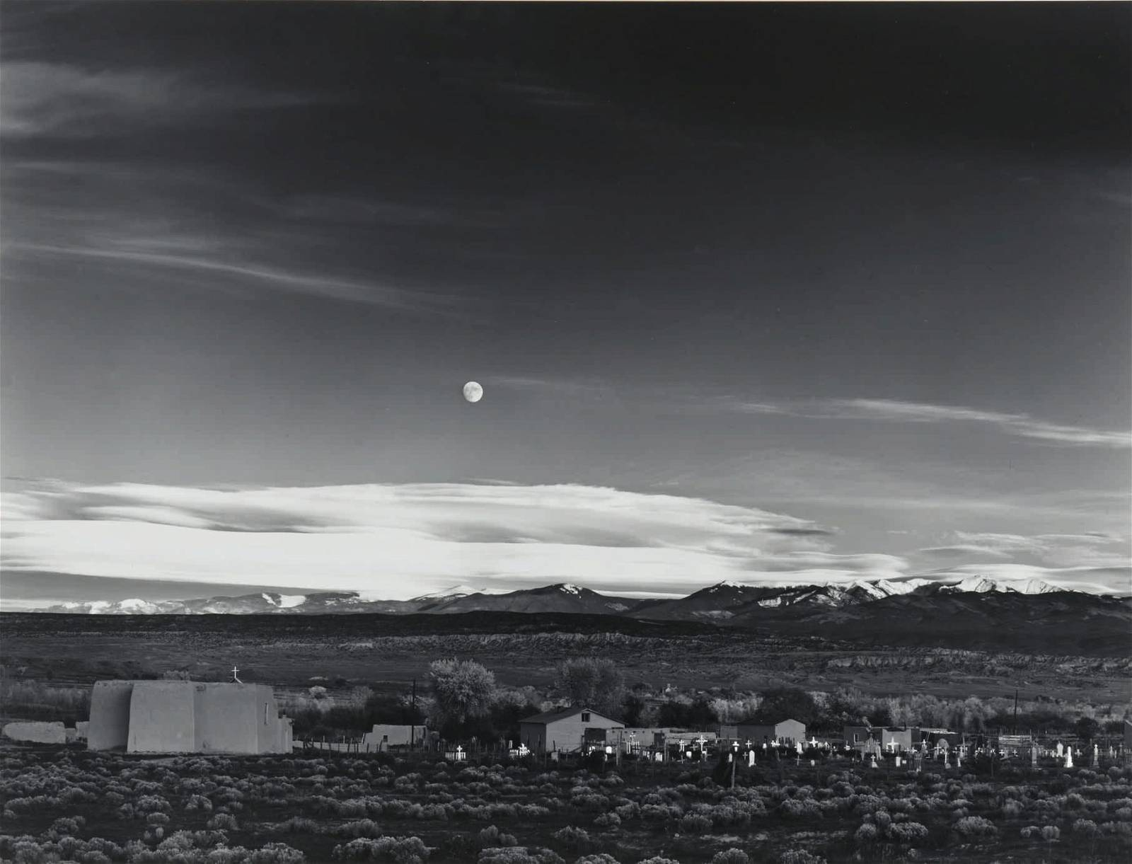 Ansel Adams Moonrise, Hernandez, New Mexico Estimate $700,000/1 million