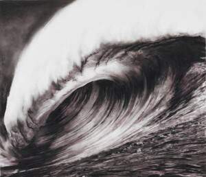 Robert Longo, Study for Heaven's Hole, 2004. Ink and charcoal on vellum, 15 3/4 x 18 3/8 inches (40 x 46.7 cm) © Robert Longo; courtesy Metro Pictures, New York